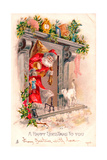 Christmas Postcard, 1903 Giclee Print by  English School