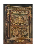 Upright Secretaire Inlaid in Various Woods, with Cast, Chased, and Gilt Bronze Mounts Giclee Print by Edwin John Foley