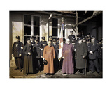 Group Portrait of Members of the Red Cross, Reims, Marne, France, 1917 Giclee Print by Fernand Cuville