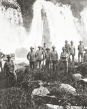 British Troops from Invading Columns Refresh Themselves at a Waterfall Photographic Print by  English Photographer