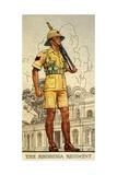 Sergeant of the Rhodesia Regiment in Drill Order, 1938 Giclée-Druck