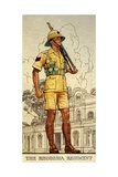 Sergeant of the Rhodesia Regiment in Drill Order, 1938 Giclee Print