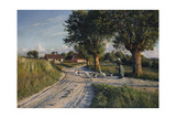 The Way Home, 1921 Giclee Print by Peder Mork Monsted