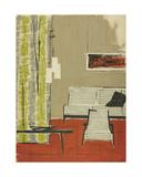 Sketch for Interior Design of a One-Room Soviet Apartment, 1964 Giclee Print by Nina Ivanovna Shirokova