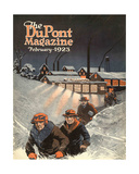 Leaving Work in the Snow, Front Cover of the 'Dupont Magazine', February 1923 Giclee Print by  American School