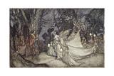 Arthur Rackham - The Meeting of Oberon and Titania, 1908 Digitálně vytištěná reprodukce