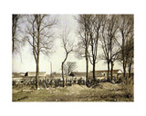 A Cemetery with New Graves, Reims, Marne, France, 1917 Giclee Print by Fernand Cuville