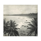 Mount Lavinia Bay, Ceylon, February 1912 Papier Photo par  English Photographer