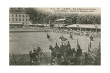 Parade at the Cavalry School in Saumur. Postcard Sent in 1913 Giclee Print by French Photographer