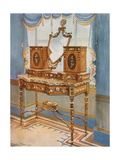 Satinwood Dressing-Table with Medallions Giclee Print by Edwin John Foley