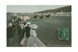 Horse Racing at Deauville. Postcard Sent in 1913 Giclee Print by  French Photographer