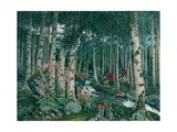 Foxgloves, 1909 Giclee Print by Nikolai Astrup