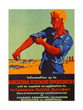 Poster Promoting Emigration to Canada, 1920 Giclee Print by  Canadian School