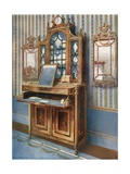 Satinwood and Mahogany Inlaid Dressing Cabinet Giclee Print by Edwin John Foley