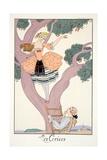 Cherries, from 'Falbalas and Fanfreluches, Almanach des Modes Présentes, Passées et Futures', 1926 Giclee Print by Georges Barbier