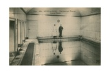 Two Men Standing in the Thermal Baths at Neris Les Bains in France. Postcard Sent in 1913 Giclee Print by  French Photographer