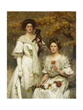 Hilda and Margaret, Daughters of Professor Sir Edward Poulton, F.R.S., c.1905 Giclee Print by Thomas Cooper Gotch