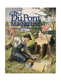 Farmer Planting Dupont Dynamite, Front Cover of the 'Dupont Magazine', September-October 1922 Giclee Print by  American School