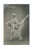 Postcard of Ice Skaters, Sent in 1913 Giclee Print by  German photographer