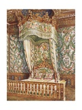 Gilt State Bed of Queen Marie Antoinette Giclee Print by Edwin John Foley