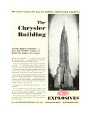 Advertisement Featuring the The Chrysler Building, from the 'Dupont Magazine', May 1930 Giclee Print by  American School