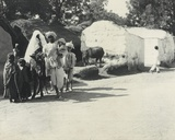 Group of Natives in the Village of Fatibad, Near Agra, January 1912 Photographic Print by  English Photographer