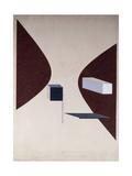 Proun N 90 (Ismenbuch), 1925 Giclée-tryk af El Lissitzky