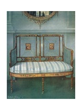 Painted Caned Satinwood Settee Giclee Print by Edwin John Foley