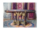 Circular Table of Various Marbles, with Chased Gilt Mounts. Folding Screen  Giclee Print by Edwin John Foley