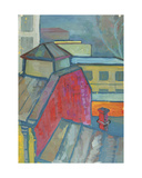 Moscow Roofs, View from the Moscow Textile Institute, 1957 Giclee Print by Nina Ivanovna Shirokova