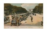 Paris, L'Avenue Du Bois de Boulogne. Postcard Sent in 1913 Giclee Print by  French Photographer