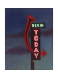 Begin Today, 2009 Giclee Print by David Arsenault