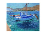 The Harbour, Tinos, 2012 Giclee Print by Andrew Macara