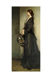 The Lady in Black, 1901 Gicléetryck av Sir William Orpen