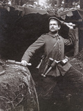 WWI German Grenadier Armed with Stick Grenades, 1915 Photographic Print by  German photographer