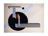 Proun N 89 (Kilmansvaria), c.1925 Giclée-tryk af El Lissitzky