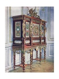 Jewel Cabinet of Queen Marie Antoinette: of Mahogany, Gilt, Inlaid, Carved, and with Painted… Giclee Print by Edwin John Foley