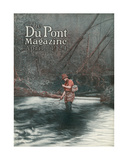 Fly Fishing, Front Cover of the 'Dupont Magazine', April 1924 Giclee Print by  American School