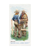Customary Greeting in Mexico, 1907 Giclee Print by  English School