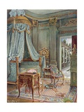 Carved and Gilt Draped Domed Bed. Bureau-Toilette (Or Petit Secretaire) in  Giclee Print by Edwin John Foley