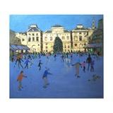 Skaters, Somerset House, 2012 Impression giclée par Andrew Macara