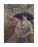 Girl with a Black Hat, 1908 Giclee Print by  Torajiro Kojima