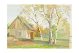 Cottage in Spring, Yurmala, on the Baltic Sea, 1952 Giclee Print by Nina Ivanovna Shirokova
