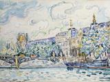 Le Palais Du Louvre, 1910 Reproduction procédé giclée par Paul Signac