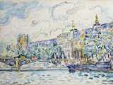 Le Palais Du Louvre, 1910 Giclee Print by Paul Signac