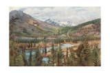 The Bow River at Banff Giclee Print by Harold Copping
