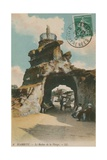 The Rock of the Blessed Virgin in Biarritz, France. Postcard Sent in 1913 Reproduction procédé giclée par French Photographer