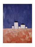 Kasimir Malevich - Landscape with Five Houses, c.1932 Digitálně vytištěná reprodukce