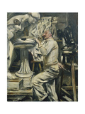 Portrait of the Sculptor Nikolaus Friedrichs; Portrait des Bildhauers Nikolaus Friedrichs, 1912 Giclee Print by Lovis Corinth