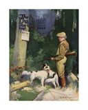 Hunting Posted Property, Front Cover of the 'Dupont Magazine', September 1924 Giclee Print by G. C. Pearce